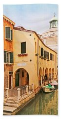 A Venetian View - Sotoportego De Le Colonete - Italy Bath Towel by Brooke T Ryan