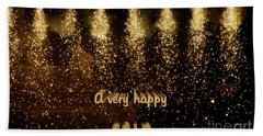 A Very Happy 2017 Hand Towel by Patricia Hofmeester