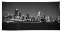 Hand Towel featuring the photograph A View From Across The Hudson by Eduard Moldoveanu