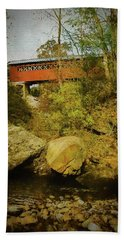 A View Of The Chiselville Covered Bridge,arlington Vermont. Bath Towel