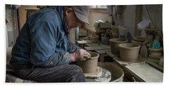 A Village Pottery Studio, Japan Bath Towel