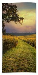 A Walk In Solitude Bath Towel by John Rivera