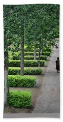A Walk In The Park In Brittany Hand Towel by Joe Bonita