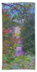 A Walk In The Park Hand Towel by Methune Hively