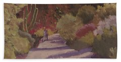 A Walk  On A  Sonoran Desert Road Hand Towel