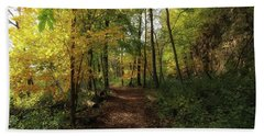 A Walk Through Autumn Hand Towel by Jimmy Ostgard