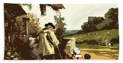 A Walk With The Grand Kids Bath Towel by Digital Art Cafe