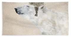 Hand Towel featuring the painting A Warm Polar Bear by Bri B