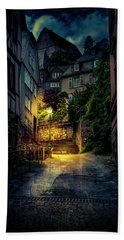 Bath Towel featuring the photograph A Wet Evening In Marburg by David Morefield