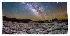 A White Pocket Nightscape Hand Towel