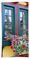 A Window In Eltville  2 Bath Towel by Sarah Loft