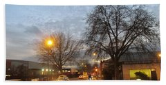 Hand Towel featuring the photograph A Winter Evening  In 2015 At Park Royal - Northwest London by Mudiama Kammoh