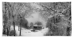 A Winter's Tale In Centerport New York Hand Towel