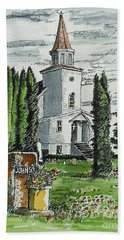 Hand Towel featuring the painting A Wisconsin Beauty by Terry Banderas