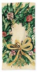 A Wreath  Hand Towel