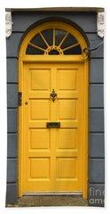 A Yellow Door In Ireland Bath Towel