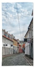 Hand Towel featuring the photograph Aarhus Backstreet Scene by Antony McAulay