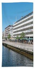 Hand Towel featuring the photograph Aarhus Canal Scene by Antony McAulay