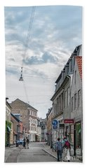 Hand Towel featuring the photograph Aarhus Urban Scene by Antony McAulay