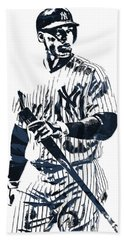 Aaron Judge New York Yankees Pixel Art 12 Hand Towel