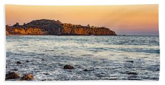 Bath Towel featuring the photograph Abalone Point Sunset by Anthony Baatz