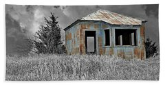 Abandon Railroad Shack Hand Towel