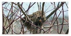 Abandoned Bird Nest Hand Towel