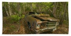Abandoned Chevelle In Cape Breton Hand Towel by Ken Morris