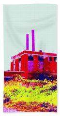 Abandoned Industrial Power Plant No 2 Hand Towel by Peter Gumaer Ogden