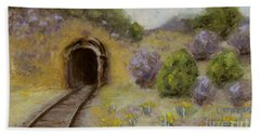 Abandoned Mine Hand Towel by Laurie Morgan