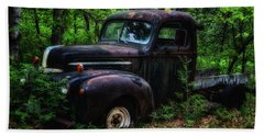 Abandoned - Old Ford Truck Hand Towel
