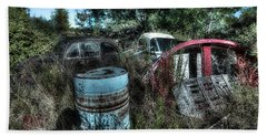 Bath Towel featuring the photograph Abandoned Vehicles - Veicoli Abbandonati  1 by Enrico Pelos
