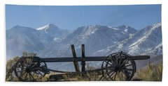 Abandoned Wagon In The High Sierra Nevada Mountains Bath Towel