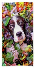 Abbi The Bench English Springer Spaniel Hand Towel