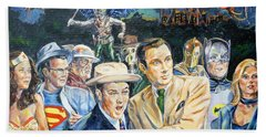 Abbott And Costello Meet The Justice Society Of America Hand Towel