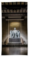 Abe Lincoln Under His Night Lights  Bath Towel