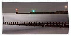 Aberdeen Beach At Night _ Pano Hand Towel