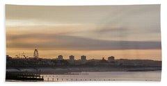 Aberdeen Beach At Sunset Hand Towel
