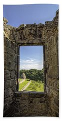 Bath Towel featuring the photograph Aberdour Castle by Jeremy Lavender Photography