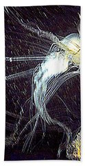 Hand Towel featuring the photograph Aberration Of Jelly Fish In Rhapsody Series 2 by Antonia Citrino