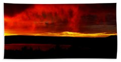 Abiquiu Reservoir  Hand Towel by Dennis Ciscel