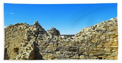 Hand Towel featuring the photograph Abo Mission Ruins New Mexico by Jeff Swan