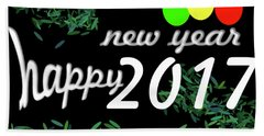 About New Year Bath Towel