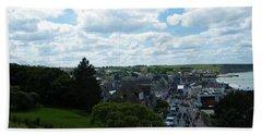 Above Arromanches-les-bains Hand Towel