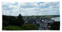 Above Arromanches-les-bains Bath Towel