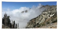 Bath Towel featuring the photograph Above The Clouds by Ed Clark