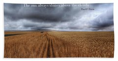 Bath Towel featuring the photograph Above The Clouds by Lynn Hopwood