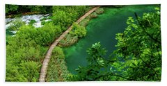 Above The Paths At Plitvice Lakes National Park, Croatia Hand Towel