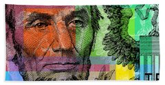 Abraham Lincoln - $5 Bill Bath Towel