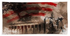Bath Towel featuring the painting Abraham Lincoln by Gull G